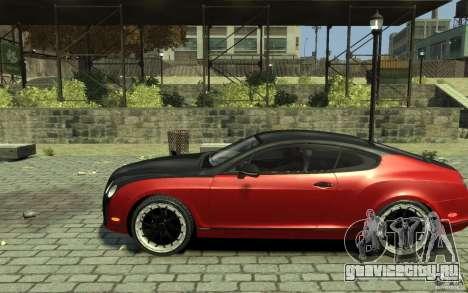 Bentley Continental GT SS для GTA 4 вид слева