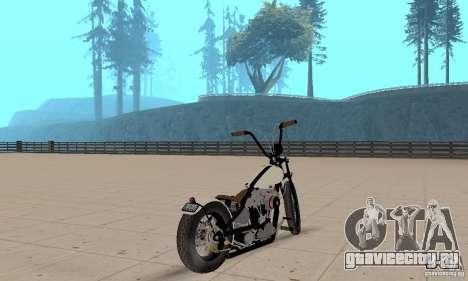 HD Shovelhead Chopper v2.1-матовый для GTA San Andreas вид слева