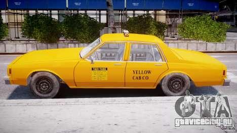 Chevrolet Impala Taxi 1983 для GTA 4 вид сбоку