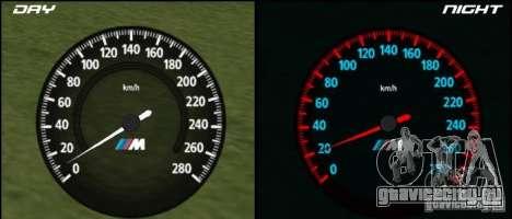 Новый спидометр BMW для GTA San Andreas
