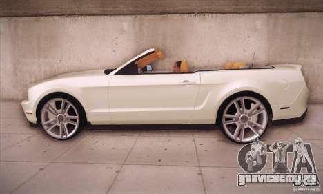 Ford Mustang 2011 Convertible для GTA San Andreas вид слева