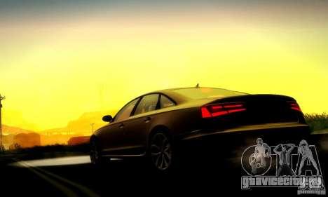 Audi A6 2012 для GTA San Andreas вид изнутри