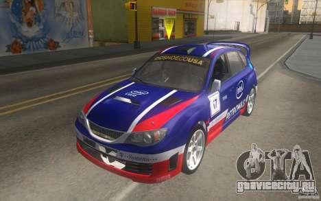 Новые винилы к Subaru Impreza WRX STi для GTA San Andreas вид сбоку