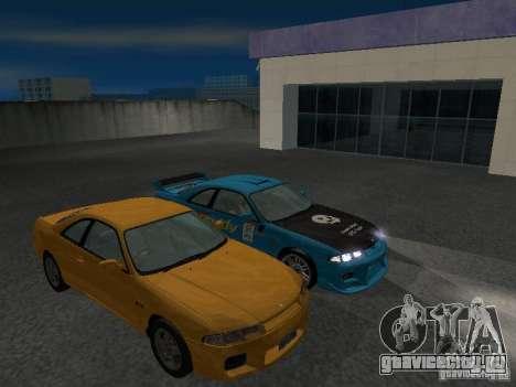 Nissan Skyline R 33 GT-R для GTA San Andreas вид сверху