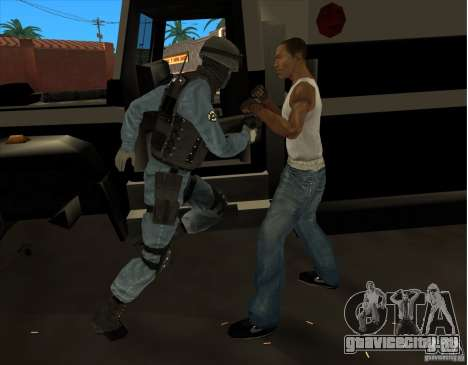 Los Angeles S.W.A.T. Skin для GTA San Andreas пятый скриншот