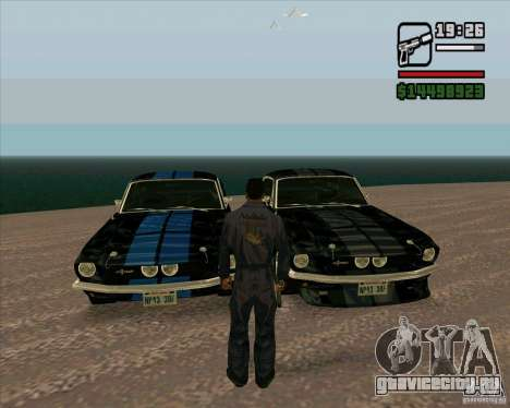 Shelby Mustang GT500 1967 для GTA San Andreas вид сзади слева
