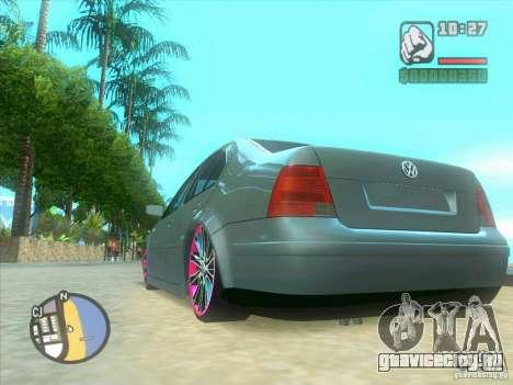 VW Bora Tuned для GTA San Andreas вид изнутри