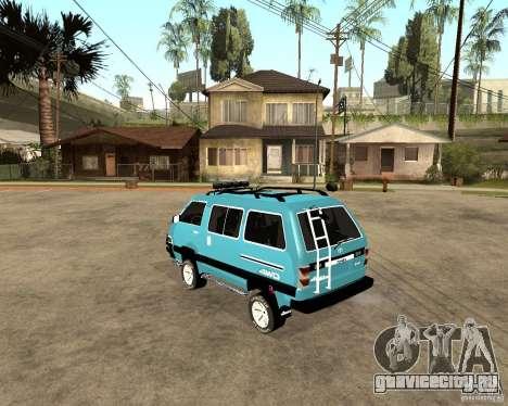 Toyota Town Ace для GTA San Andreas вид сзади слева
