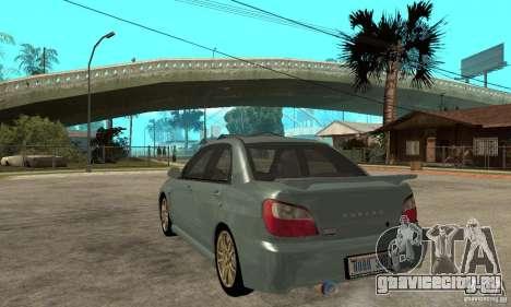 Subaru Impreza 2002 Tunable - Stock для GTA San Andreas вид справа