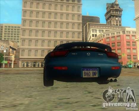 Mazda RX 7 для GTA San Andreas вид сзади слева