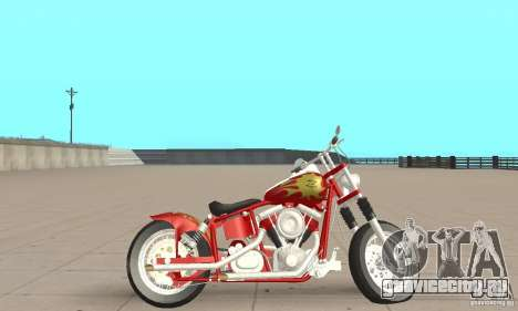 Orange County old school chopper Sunshine для GTA San Andreas вид сзади слева