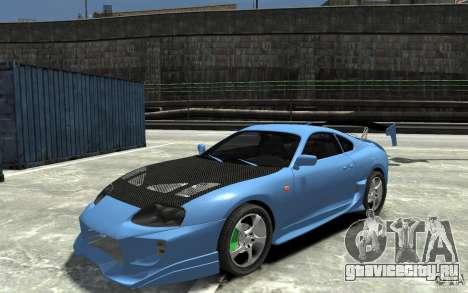 Toyota Supra Black Tuning для GTA 4