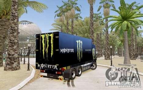 Scania R580 Monster Energy для GTA 4 вид слева