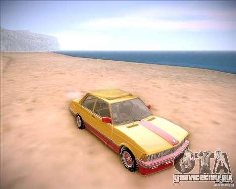 BMW E21 для GTA San Andreas вид сзади