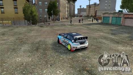 Subaru Impreza WRX STI Rallycross KMC Wheels для GTA 4 вид изнутри