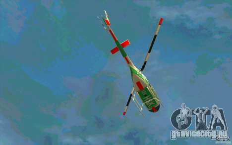 Bell 206 B Police texture3 для GTA San Andreas вид изнутри