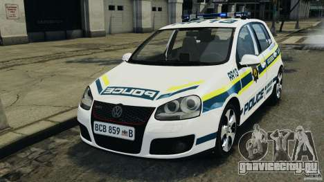 Volkswagen Golf 5 GTI South African Police [ELS] для GTA 4
