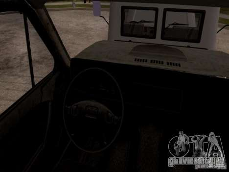 ГАЗ 3309 Эвакуатор для GTA San Andreas вид сзади