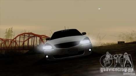 ВАЗ 2170 California для GTA San Andreas вид изнутри