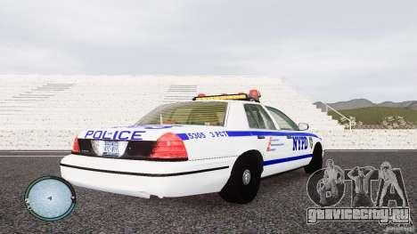 Ford Crown Victoria 2003 NYPD для GTA 4 вид справа