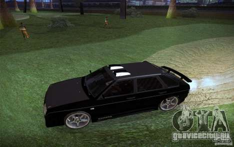 ВАЗ 2109 Карбон для GTA San Andreas вид изнутри
