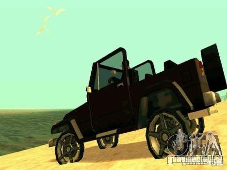 Mesa From Beta Version для GTA San Andreas вид сзади слева