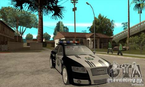 Audi A6 Police для GTA San Andreas вид сзади