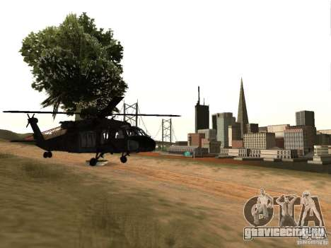 Вертолёт из CoD 4 MW для GTA San Andreas вид справа