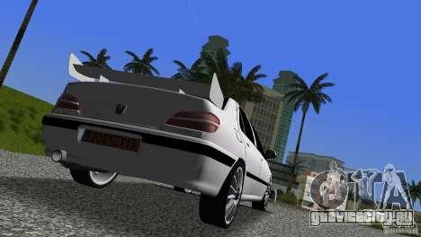 Peugeot 406 Taxi 2 для GTA Vice City вид сзади
