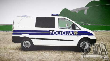 Mercedes Benz Viano Croatian police [ELS] для GTA 4 вид изнутри