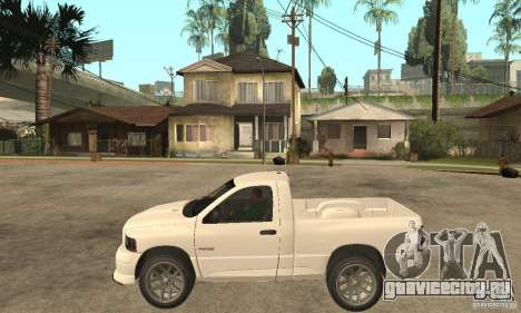 Dodge Ram SRT 10 для GTA San Andreas вид слева