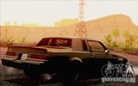 Buick GNX 1987 для GTA San Andreas вид сверху