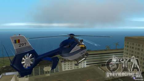 Eurocopter Ec-135 Politia Romana для GTA Vice City вид изнутри