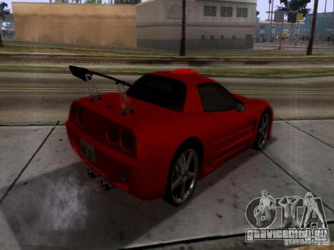 Chevrolet Corvette C5 для GTA San Andreas вид сзади