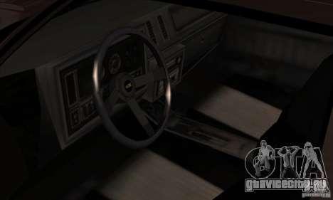 Buick Regal GNX 1987 для GTA San Andreas вид сзади