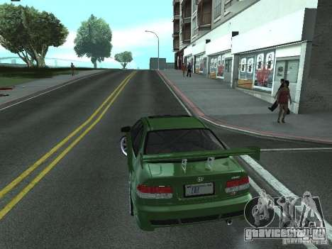 Honda Civic Si Sporty для GTA San Andreas вид слева
