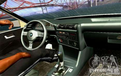BMW E30 M3 Cabrio для GTA San Andreas вид сверху