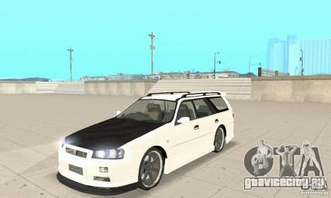 Nissan Stagea GTR для GTA San Andreas вид сзади слева