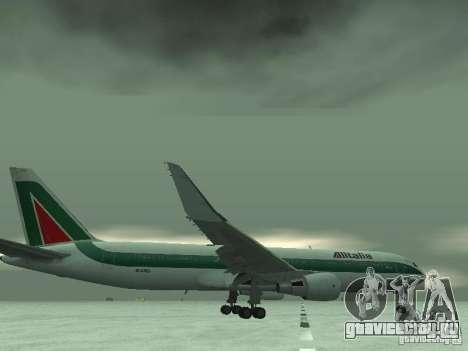 Boeing 767-300 Alitalia для GTA San Andreas вид снизу