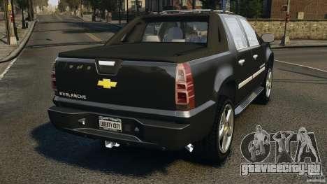 Chevrolet Avalanche Stock [Beta] для GTA 4 вид сзади слева