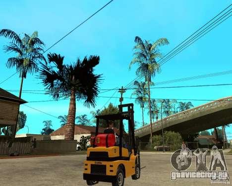 Forklift GTAIV для GTA San Andreas вид сзади слева