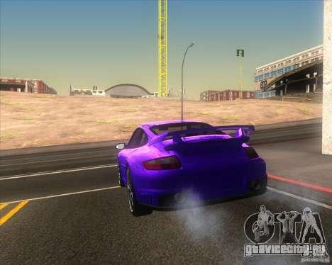 Porsche 911 GT2 (997) для GTA San Andreas вид сбоку