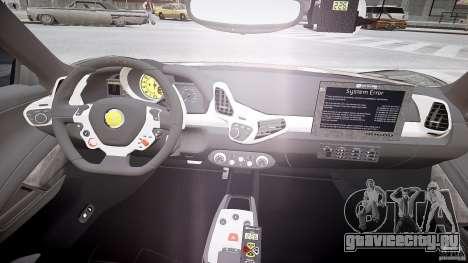 Ferrari 458 Italia - Brazilian Police [ELS] для GTA 4 вид сзади