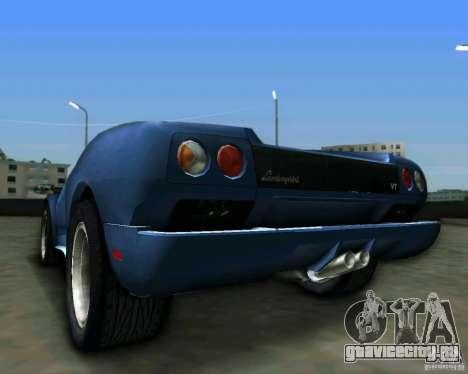 Lamborghini Diablo для GTA Vice City вид сзади