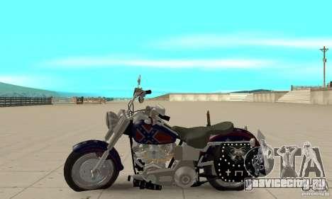 Harley Davidson FLSTF (Fat Boy) v2.0 Skin 4 для GTA San Andreas вид слева