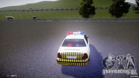 Ford Crown Victoria Karachi Traffic Police для GTA 4 вид сбоку