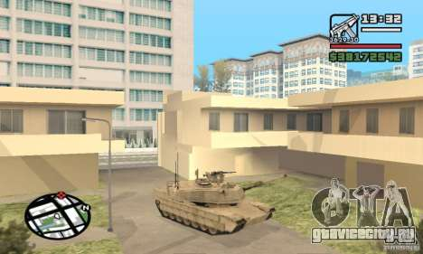 M1A2 Abrams TUSK для GTA San Andreas вид слева