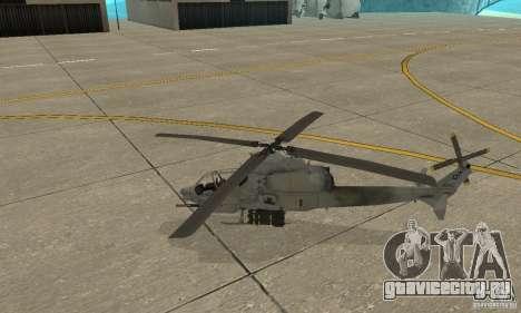 Hunter - AH-1Z Cobra для GTA San Andreas вид слева
