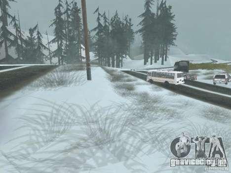 Зима для GTA San Andreas второй скриншот