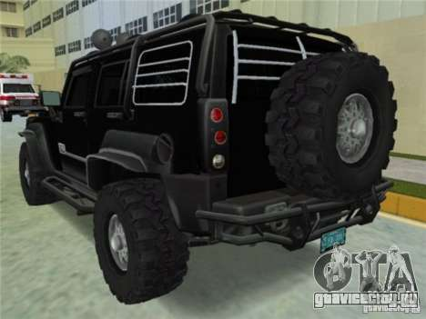 Hummer H3 SUV FBI для GTA Vice City вид слева